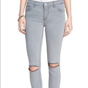 Free People Gray Denim Jeans